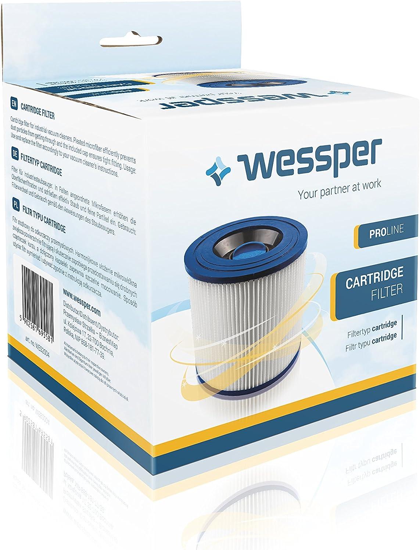 Wessper/® Filtro a Cartuccia per K/ärcher WD 2.500M aspirapolvere per Uso Secco