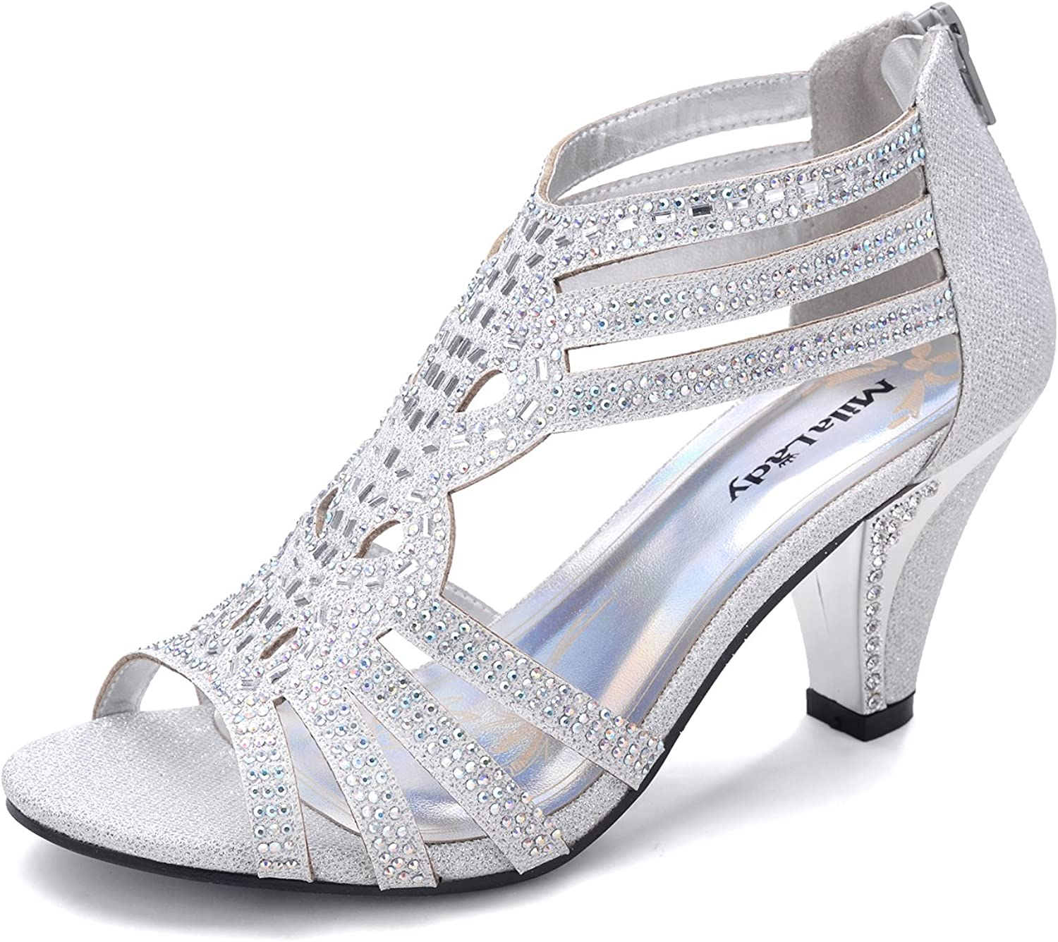 Chicago Mall Mila Lady Women's Lexie Crystal Dress Kimi25 Lowest price challenge Heeled Sandals