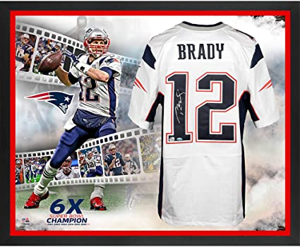 quality design ba1fc 523d8 Tom Brady New England Patriots Framed Autographed Super Bowl LIII Champions  Nike White Elite Jersey 6
