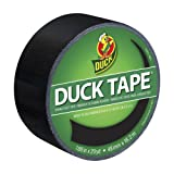 Duck Brand 1265013 Color Duct Tape, Black, 1.88 Inches x 20 Yards, Single Roll
