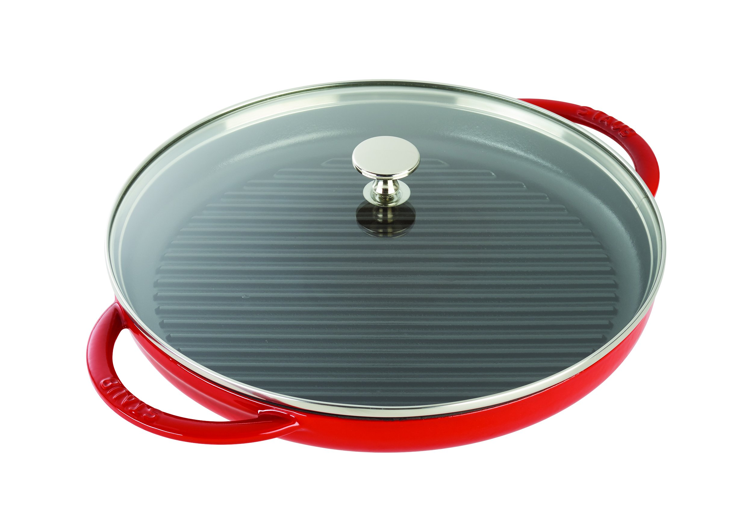 Staub 12042606 Cast Iron Round Steam Grill, 10-inch, Cherry by STAUB (Image #1)