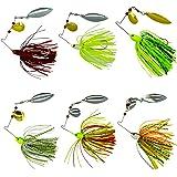 Fishing Spinner Baits Kit - Hard Spinner Lures Multicolor Buzzbait Swimbaits Pike Bass 0.64oz