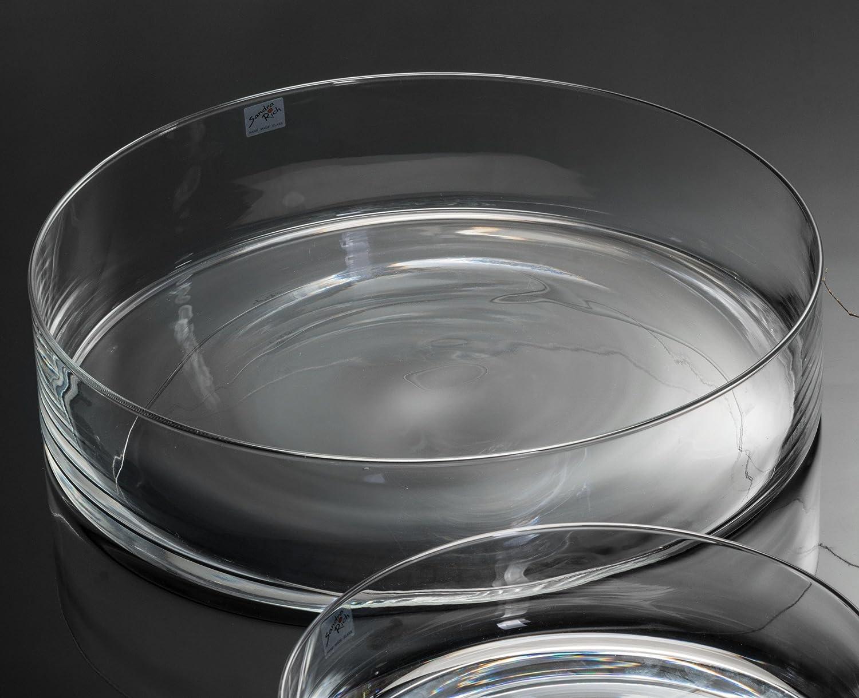 3x Glasschale Cora, Schale Glas Dekoschale Tischschale, Ø 30 cm