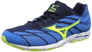 Mizuno Wave Hitogami 3, Men's Competition Running Shoes, Blue (Diva Blue /Safetey