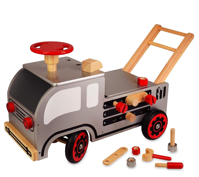 Lauflernwagen Werkbank - I m Toy Schiebewagen Bauspiele