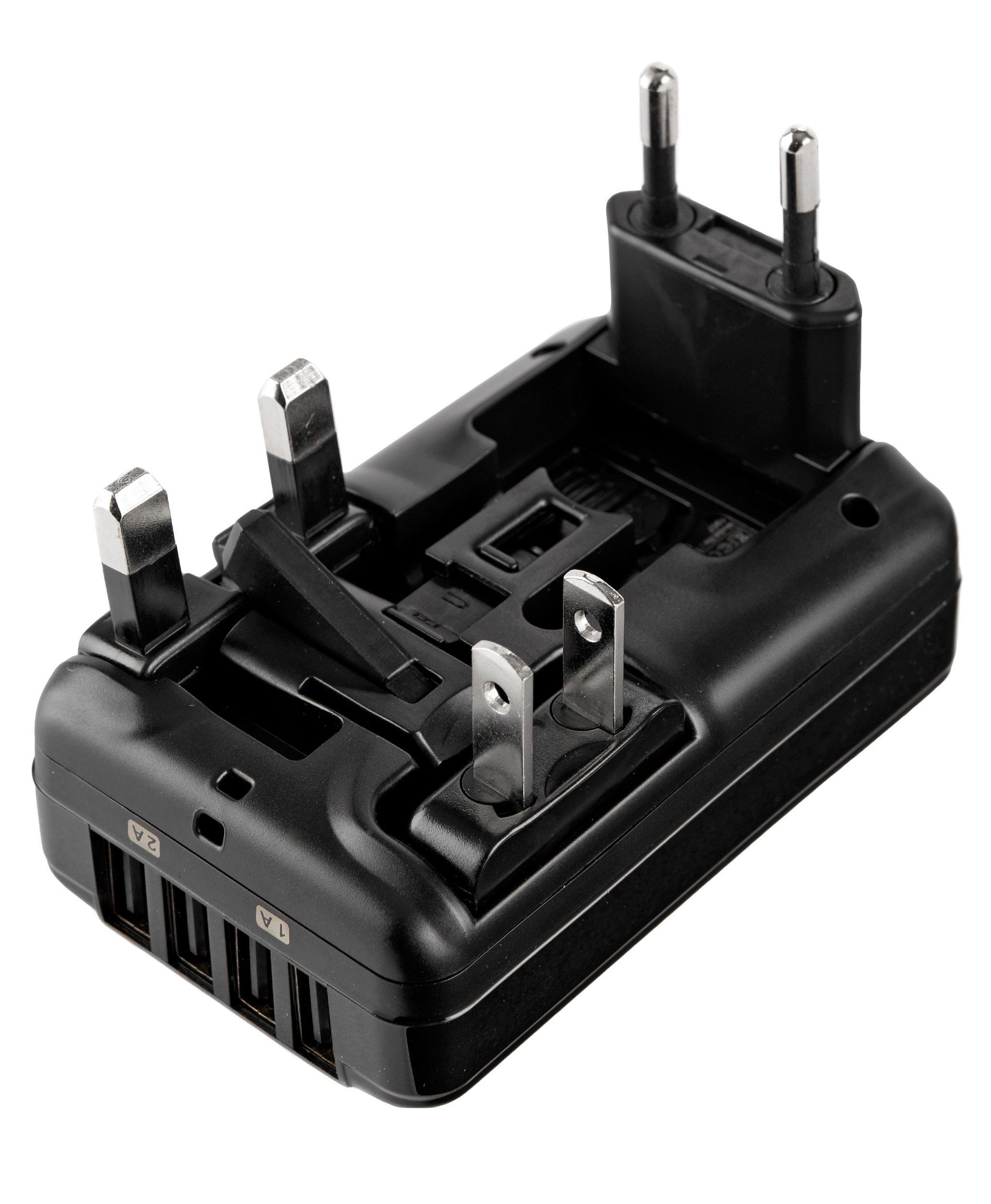 Tumi 4 Port USB Travel Adaptor, Black, One Size by Tumi (Image #3)