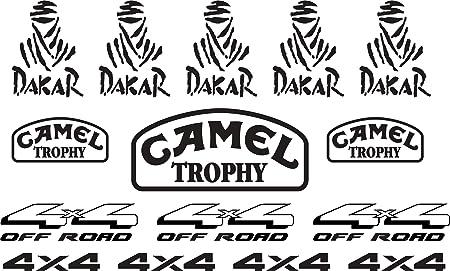 Pegatina Sticker ADESIVO AUFKLEBER Decals AUTOCOLLANTS Dakar Camel Trophy 4X4 Off Road Vinilo 5 a 7 años 15 Unidades REF1: Amazon.es: Coche y moto