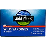 Wild Planet Sardines No Salt in Water, 4.375 Ounce (Pack of 12)