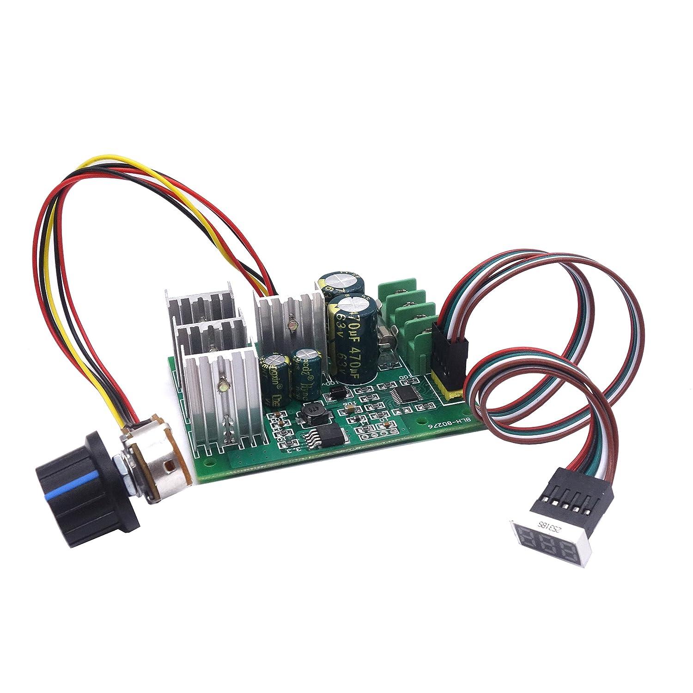 regulador de velocidad del motor de DC 6 V 12 V 24 V 36 V 48 V 60 V 30 A con Digital Display 0 ~ 100% DC Motor Driver Mó dulo SYYL