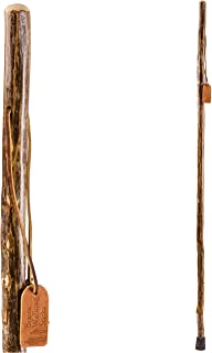 product image for Brazos Trekking Pole Hiking Stick for Men and Women Handcrafted of Lightweight Wood and made in the USA, Ironwood, 55 Inches