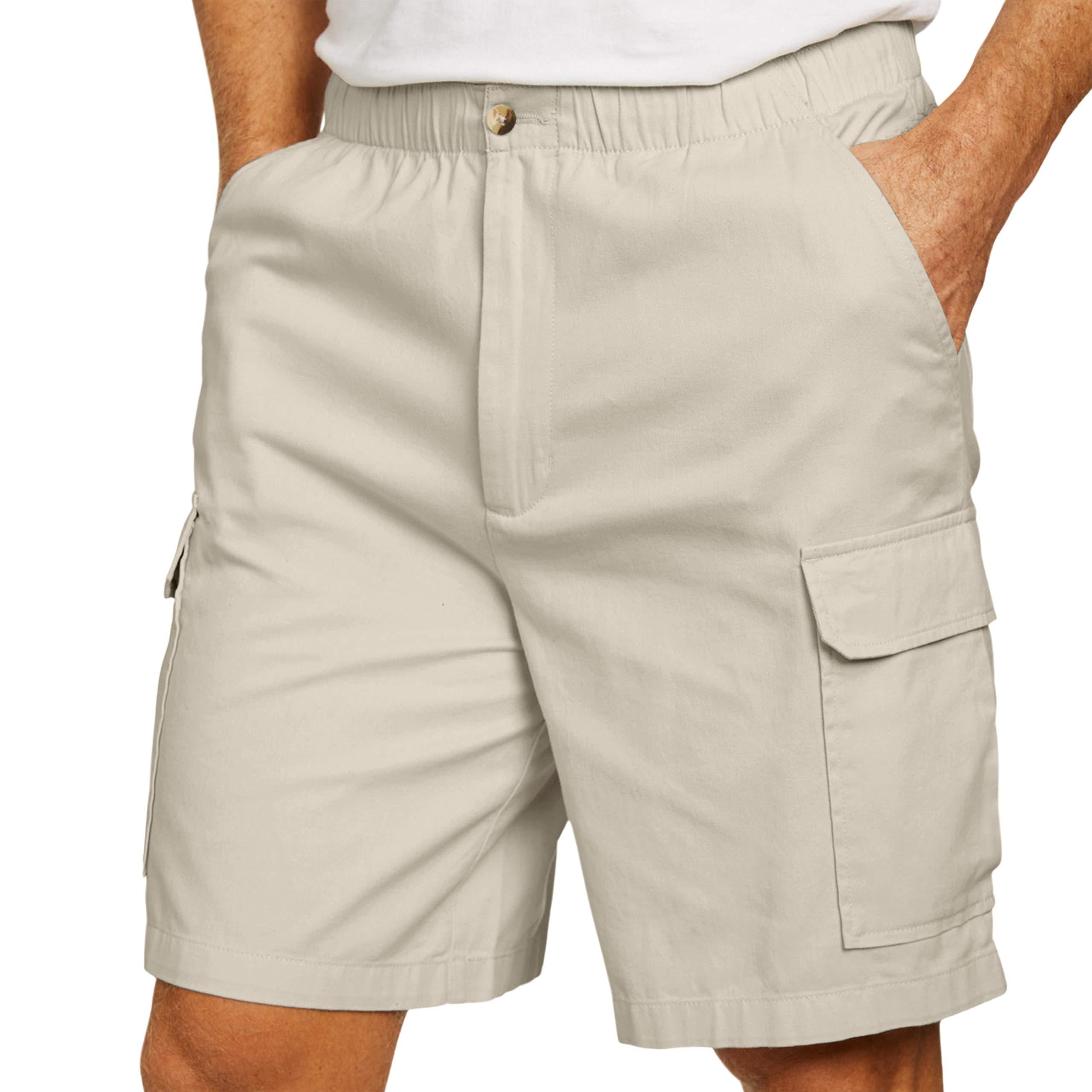 KingSize Men's Big & Tall Knockarounds 8'' Cargo Shorts, Stone Big-4XL