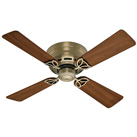 Hunter 23860 low profile lll 42 inch 4 walnut blades ceiling fan hunter 23860 low profile lll 42 inch 4 walnut blades ceiling fan antique brass aloadofball Image collections