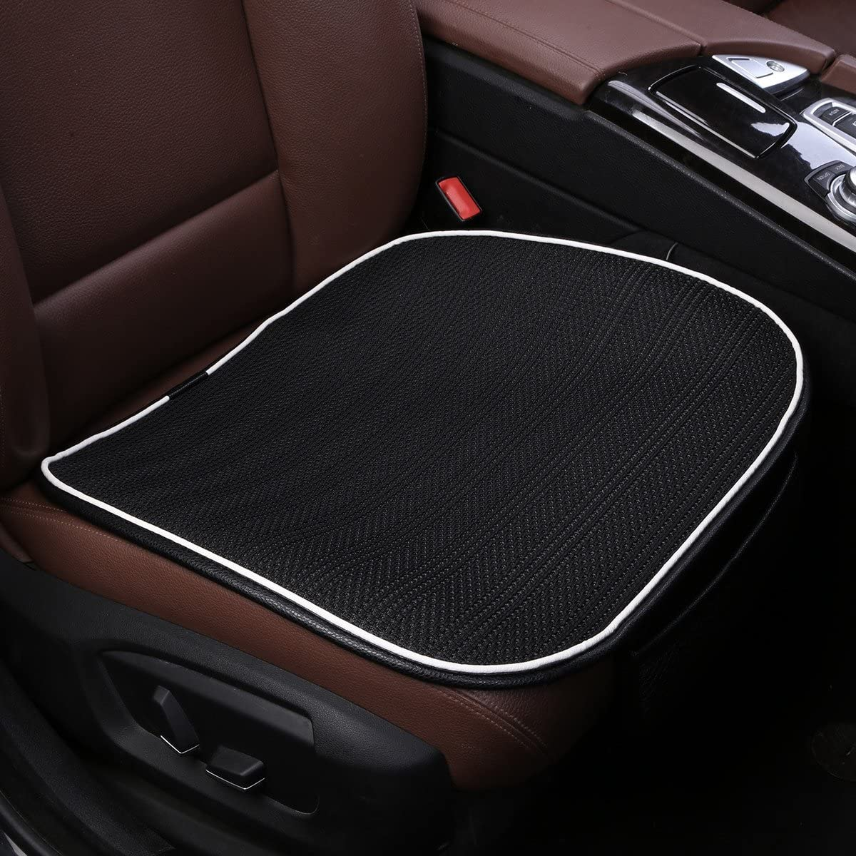 Car Seat Cushion,Breathable Comfort Car Drivers Seat Covers, Universal Car Interior Seat Protector Mat Pad Fit Most Car, Truck, Suv, or Van(Black Front Seat)