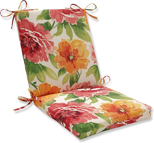Pillow Perfect Outdoor/Indoor Muree Primrose Square Corner Chair Cushion