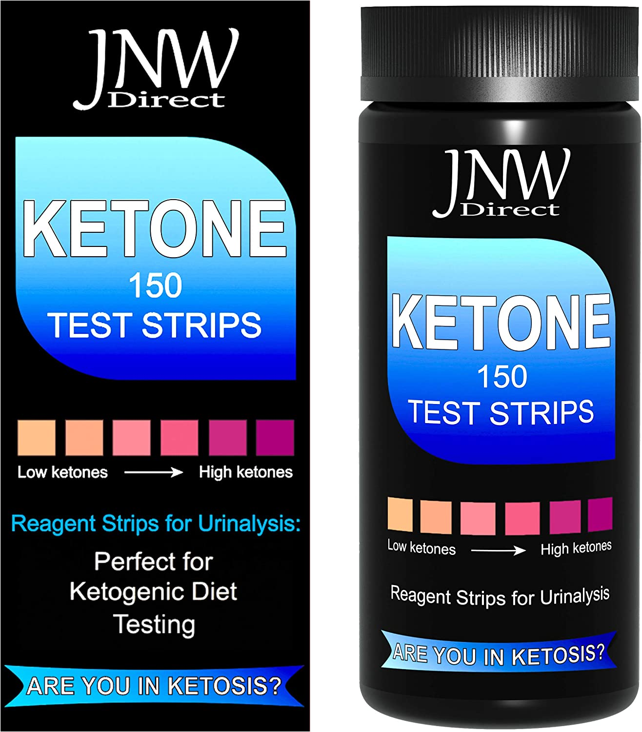 Ketone Test Strips, 150 Urinalysis Keto Test Strips for Testing Body Urine Ketosis Levels, Perfect Kit for Ketogenic and Weight Loss Diets, Free App & Ebook Included: Health & Personal Care