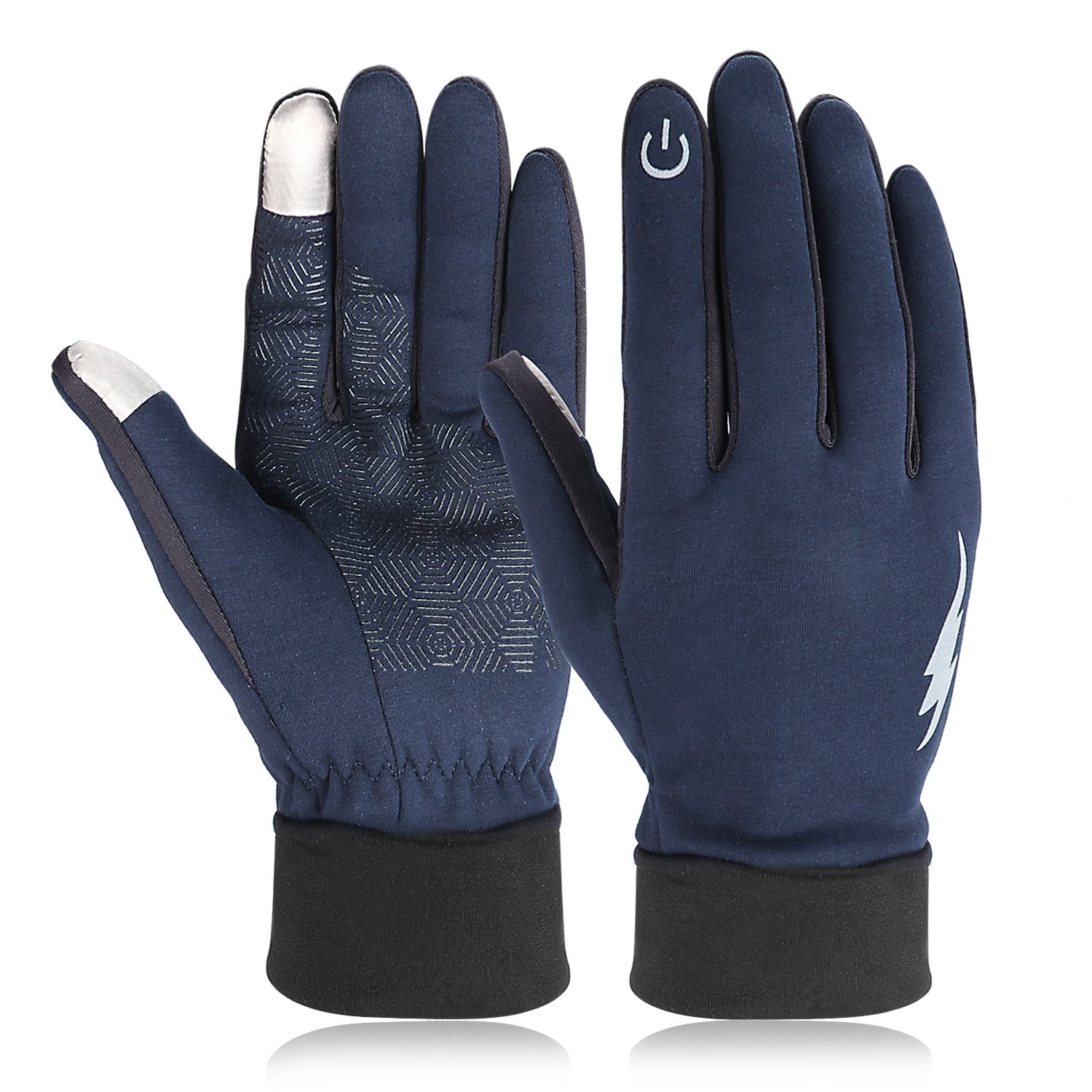 Winter Gloves, HiCool Touch Screen Gloves Driving Gloves Running Cycling Gloves Outdoor Indoor Thermal Warm Gloves for Men and Women (M, Dark Blue)