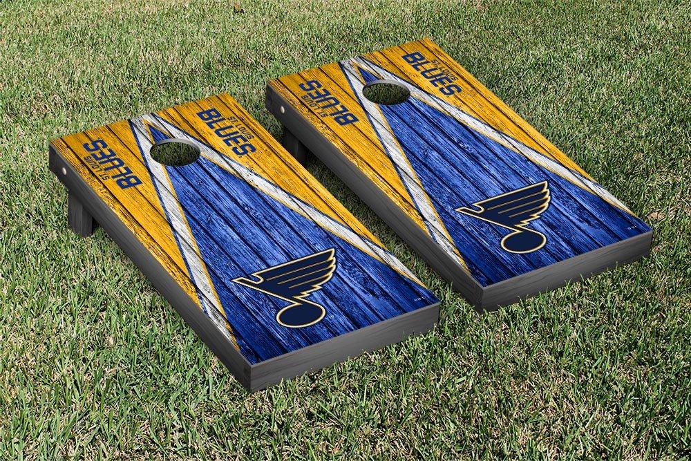 St. Louis Blues NHL Regulation Cornhole Game Set Weathered Triangle Version