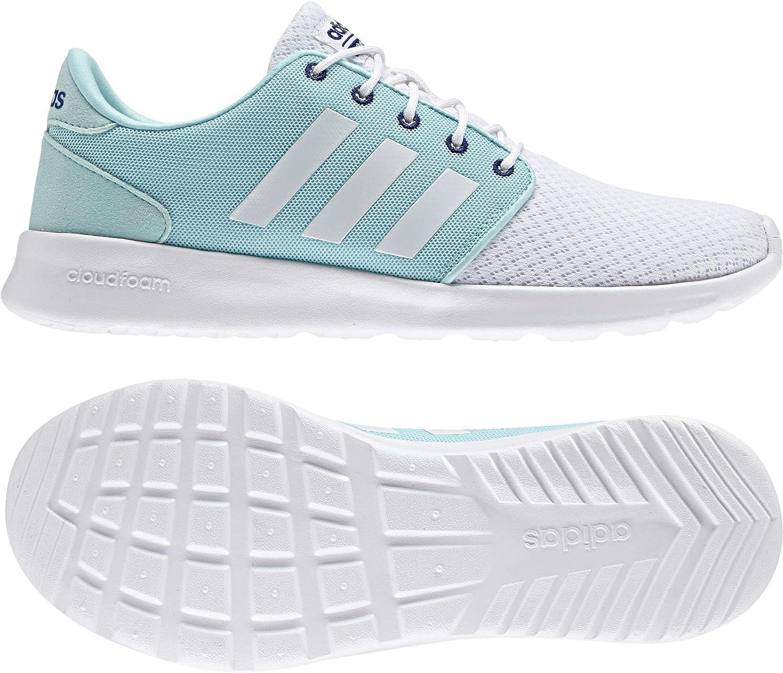adidas Cloudfoam Qt Racer W, Sneaker Basses Femme, Blanc