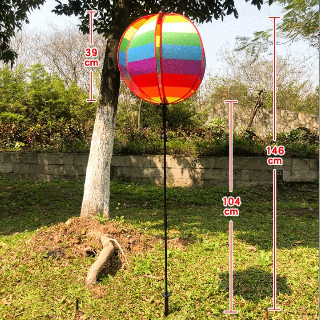 en Plein Air Jardin Attractions Pelouse D/écoration pour Enfants Jouet Moulin /À Vent GLOOPE Rainbow Wind to Round Sph/ère Moulin /À Air