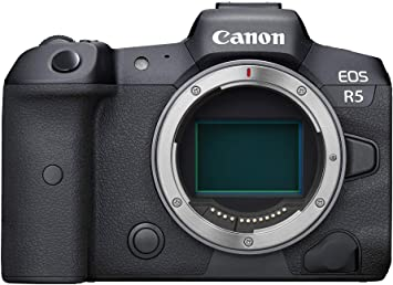 Amazon Com Canon Eos R5 Full Frame Mirrorless Camera With 8k Video 45 Megapixel Full Frame Cmos Sensor Digic X Image Processor Dual Memory Card Slots And Up To 12 Fps Mechnical Shutter Body