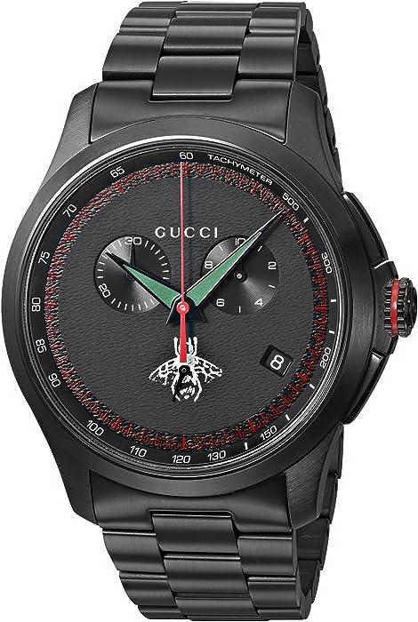 8332e561879 Gucci Swiss Quartz Metal and Alloy Dress Black Men s Watch(Model  YA126269)