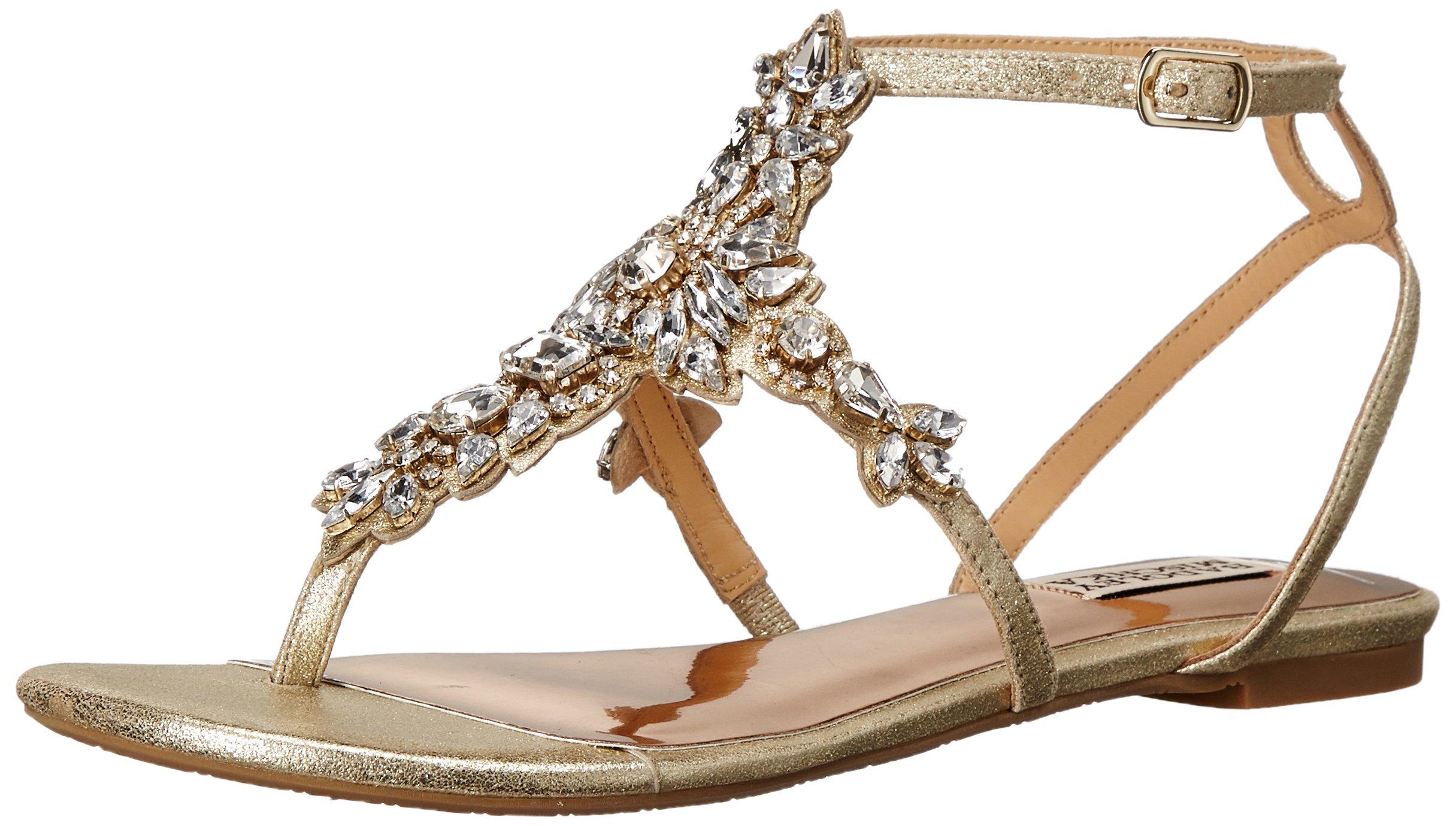 Badgley Mischka Women's Cara II Dress Sandal, Platino, 5.5 M US