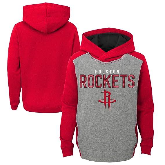 NBA Houston Rockets, Sudadera para Niños, Rojo (Red/Grey Rgy), 16 años (Talla del Fabricante: L): Amazon.es: Ropa y accesorios