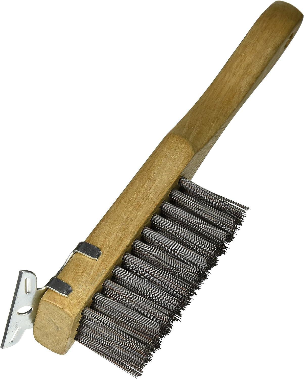 Bon 11-217 Cepillo de alambre con mango recto y rascador