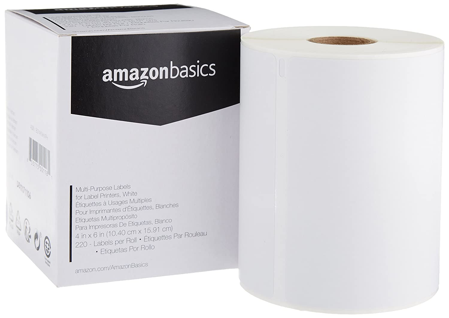 White 4 x 6 4 Rolls of 220 Labels Basics Multi-Purpose Labels for DYMO LW LabelWriter Label Printers