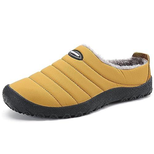 Hombres Slippers Caliente Interior Suave Algodón Casa Zapatilla Invierno Impermeable Aire Zapatillas De Al Libre Mujer Zapatos WrxCBoed