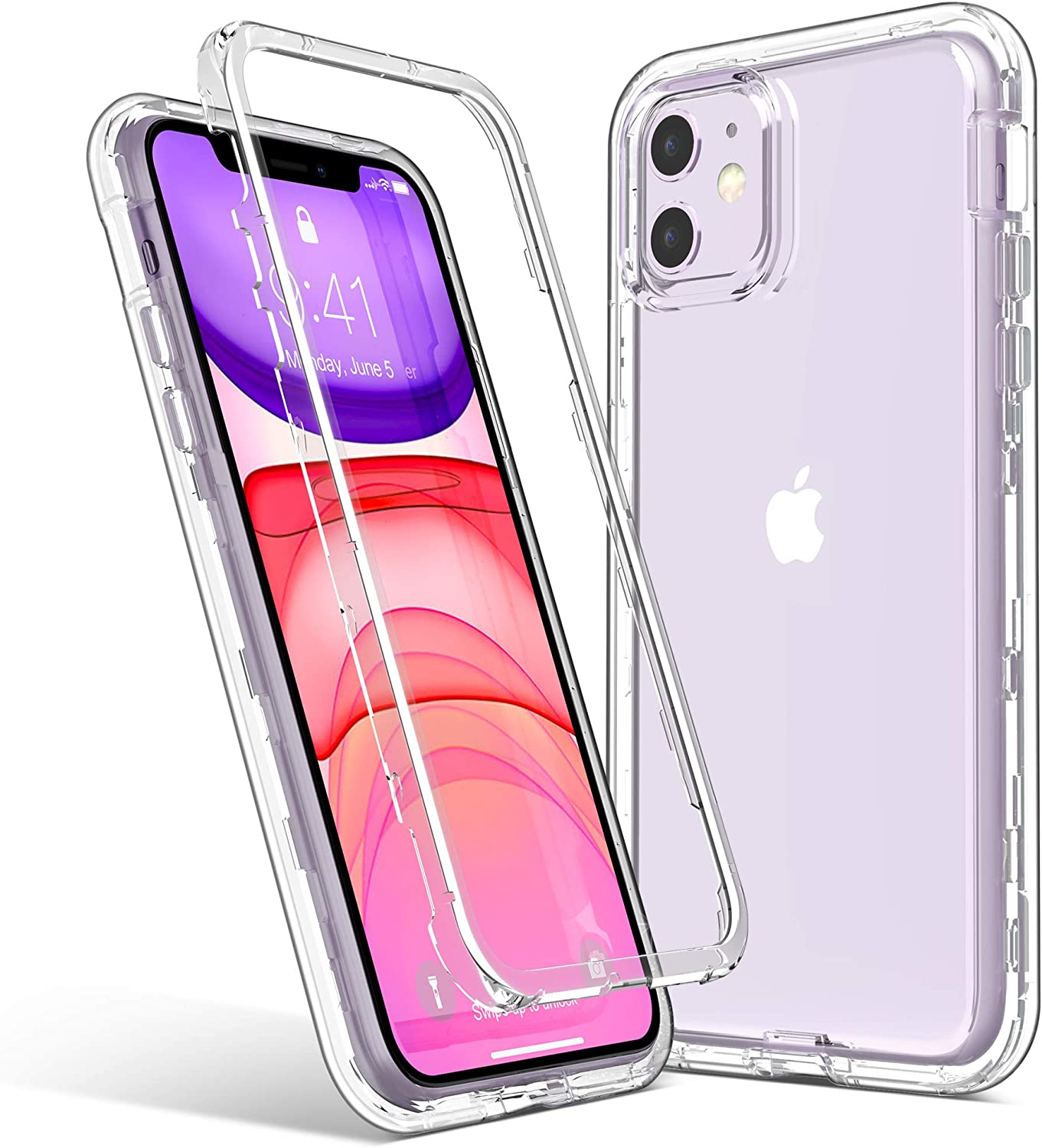 ULAK iPhone 11 Case, Heavy Duty Shockproof Rugged Protection Case Soft TPU Bumper Phone Cover Designed for Apple iPhone 11 6.1 inch (2019), Clear