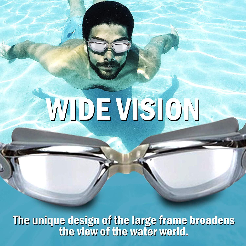 m/áscara Bloqueador de Agua ETCBUYS Gafas de nataci/ón antiniebla con Tapones para los o/ídos: nataci/ón Flexible Adaptable con Tapones para los o/ídos Bloqueador de Sonido
