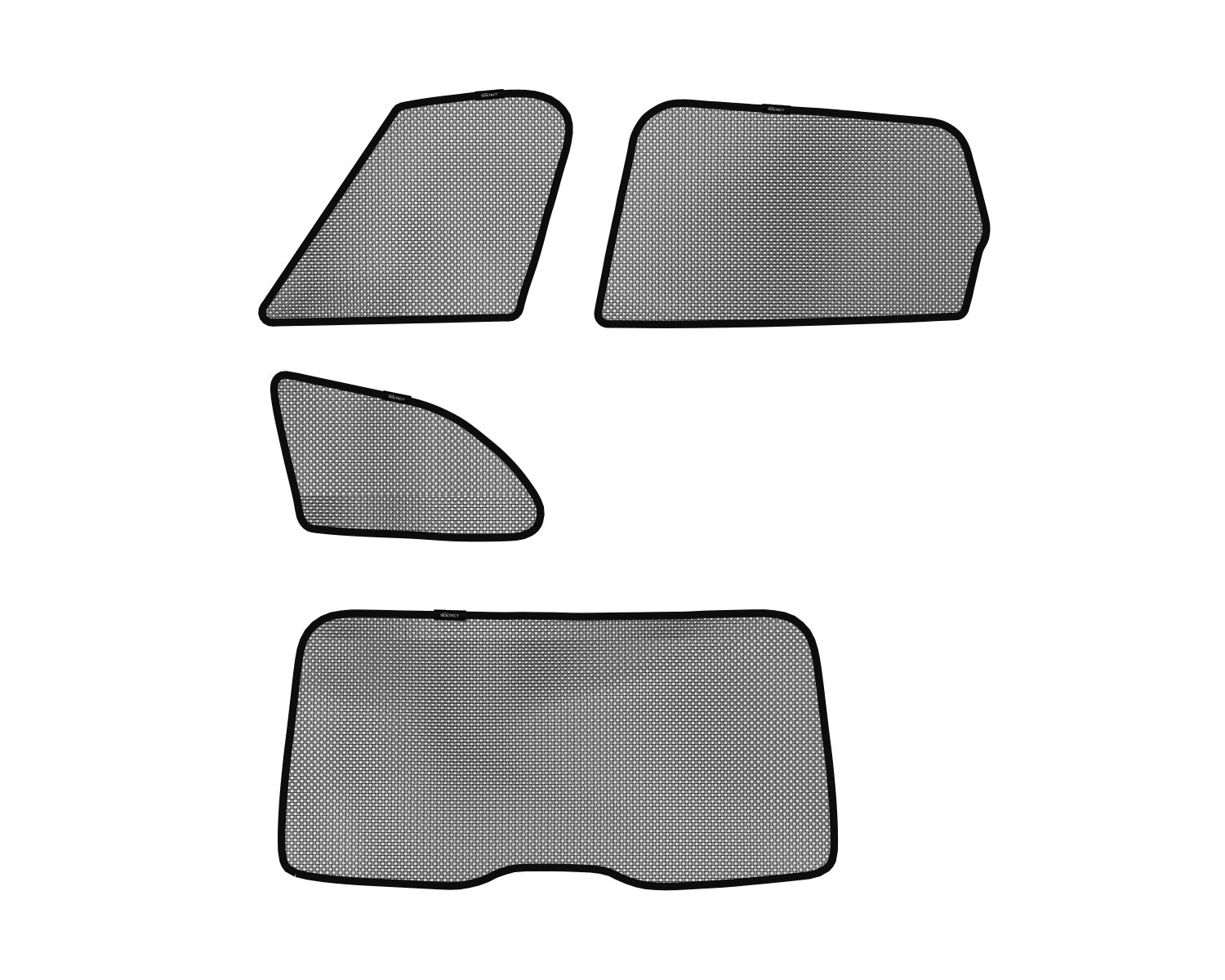3D MAXpider S1VV0150 3D Soltect Complete Set Custom Fit Sun Shades for Select Volvo XC60 Models by 3D MAXpider (Image #1)