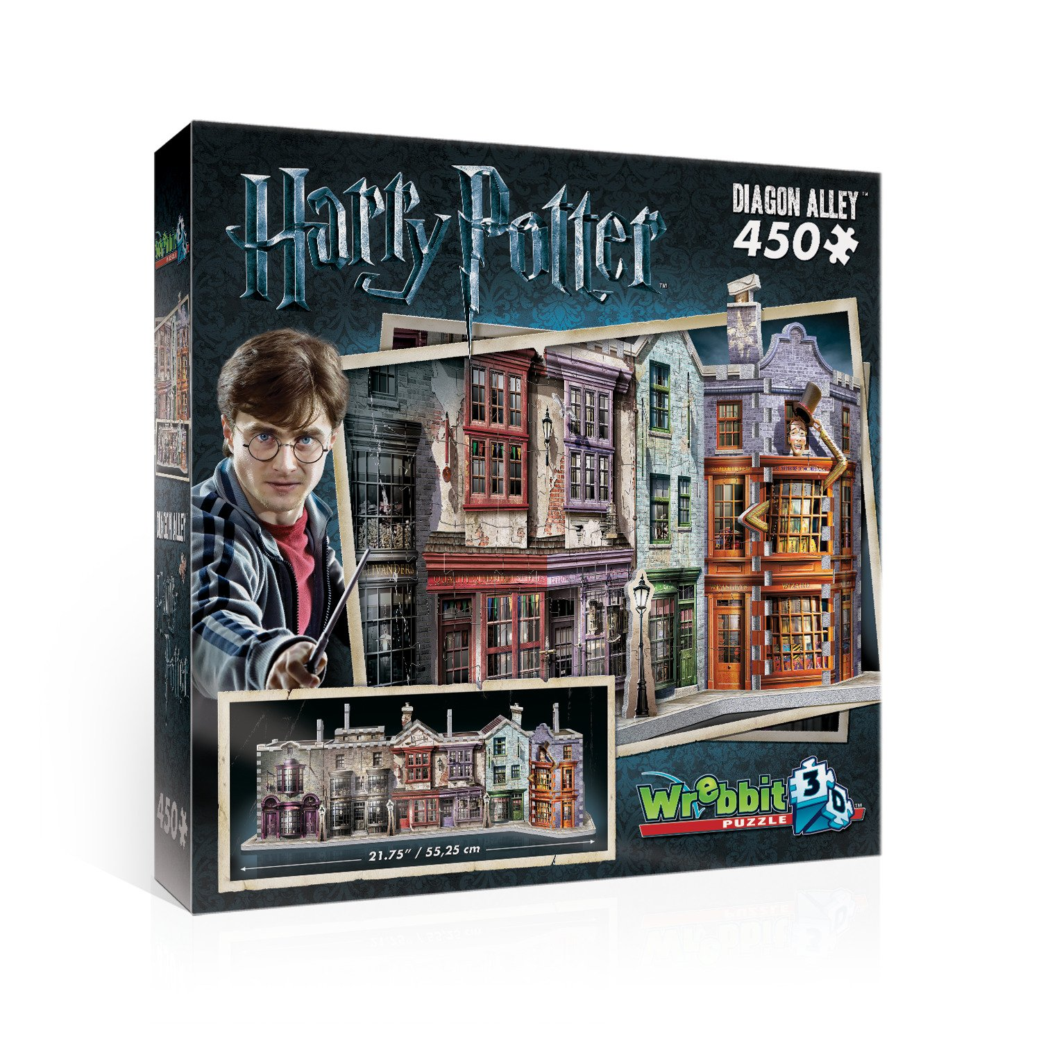 WREBBIT 3D Diagon Alley 3D Jigsaw Puzzle (450 Pieces) WREBBIT PUZZLES W3D-1010