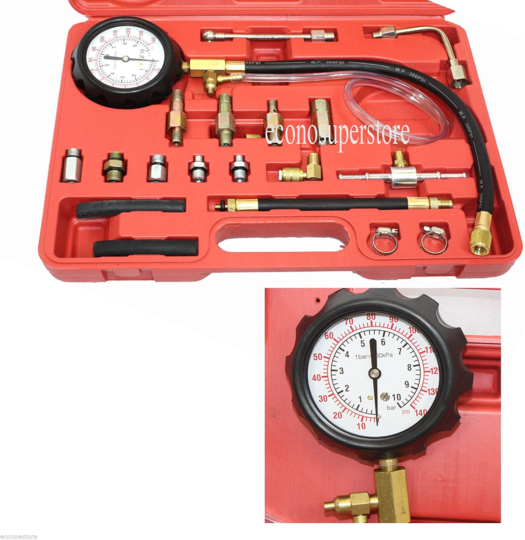 Fuel Injection Oil Combustion Spraying Pressure Meter Gauge Kit 0-140psi