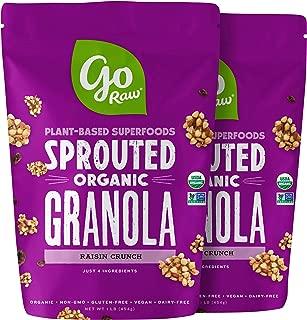 product image for Go Raw Raisin Crunch Gluten Free Granola, 16oz bags — Keto | Vegan | Organic | Grain Free | Nut Free, 1 Pound (Pack of 2) (859888)