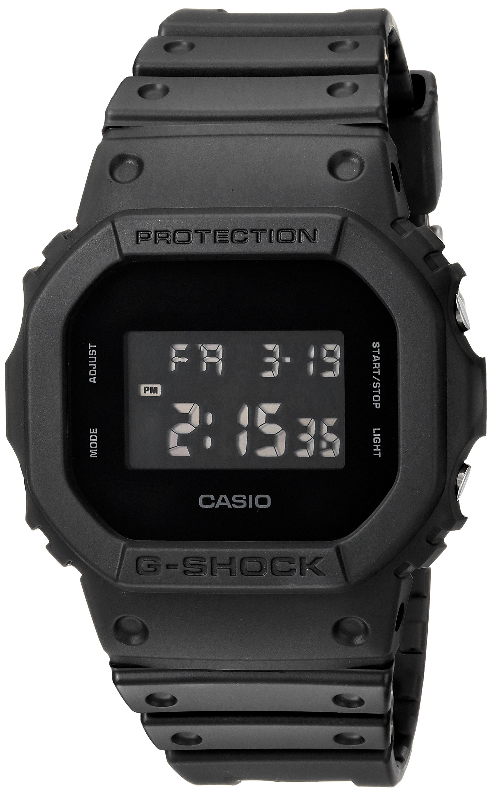 Casio Men's G Shock Quartz Watch with Resin Strap, Black, 30 (Model: DW-5600BB-1CR) by Casio (Image #1)