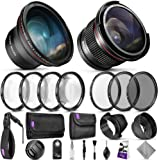 58mm Altura Photo Professional Accessory Kit for Canon EOS Rebel DSLR – Bundle with Wide Angle & Fisheye Lens, Filters…