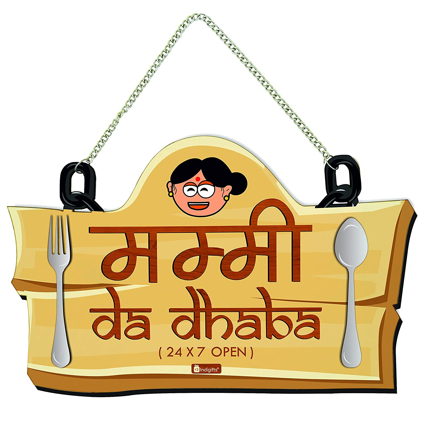 Indigifts Wall/Door Hanging Mummy da Dhaba