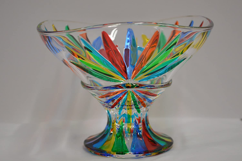 Murano Glass Starburst Bowl, Compote Via Graceffo STAR/Bwl/Compote