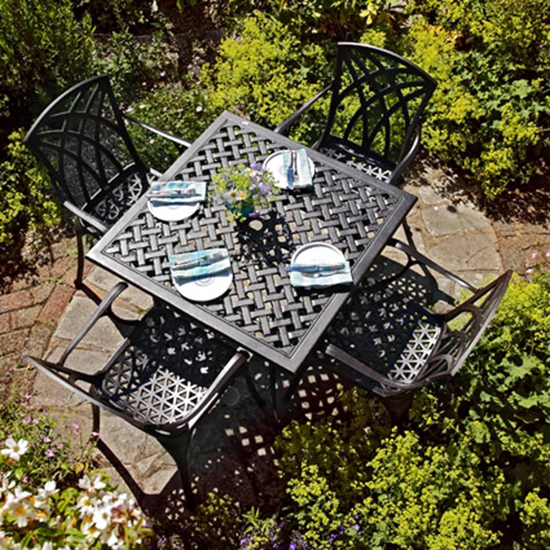 Lazy Susan Lucy 91 Cm Quadratischer Gartentisch Mit 4 Stuhlen