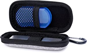 Hard Case for AliveCor Kardia Mobile EKG Monitor with Pill Organizer by CQNET (Gray)
