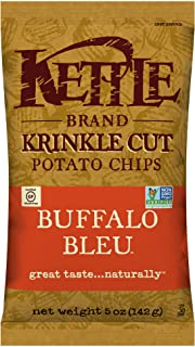 product image for Kettle Brand Potato Chips, Krinkle Cut Buffalo Bleu, 5 Ounce Bags (Pack of 15)