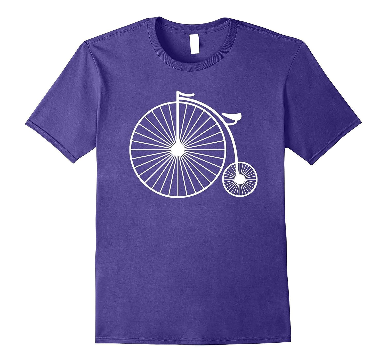 Big Bike Fun Vintage Penny Farthing T-Shirt For Cyclists-PL