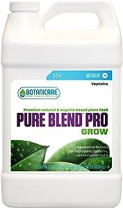 Botanicare 718480 Pure Blend Pro Grow Soil Hydroponic Nutrient Fertilizer, 1-Gallon