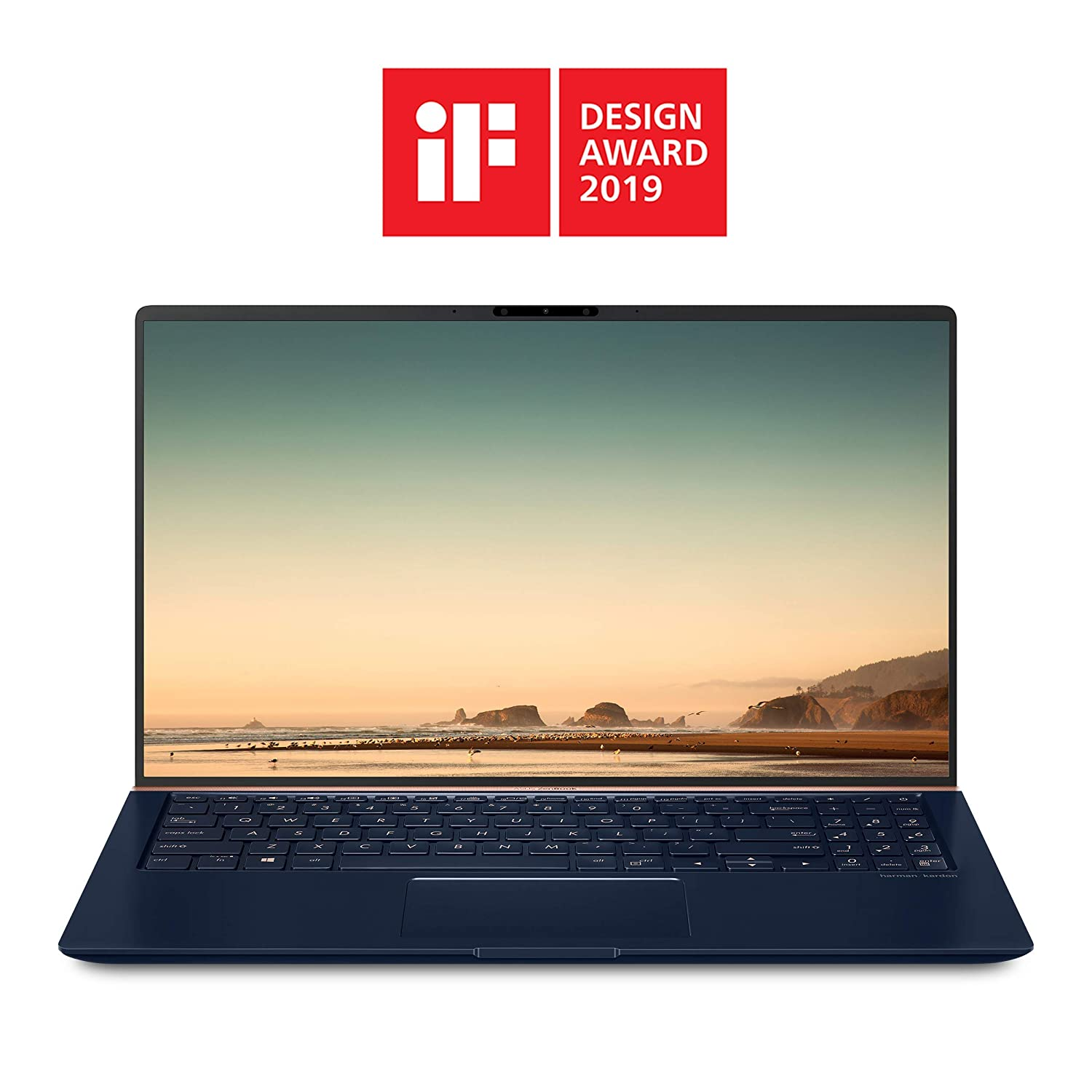 ASUS ZenBook 15 Laptop 15.6 inches FHD 4-Way Narrow Bezel, Intel Core i7-8565U Up to 4.1GHz, 16GB DDR4, 512GB PCIe SSD, GTX 1050 Max-Q, IR Camera, Windows 10 - UX533FD-DH74, Royal Blue (Renewed)