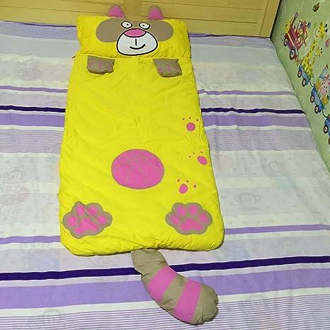 Deporte Hacer multifunción Niños de dibujos animados cómodo saco de dormir bebé verde gato Anti-