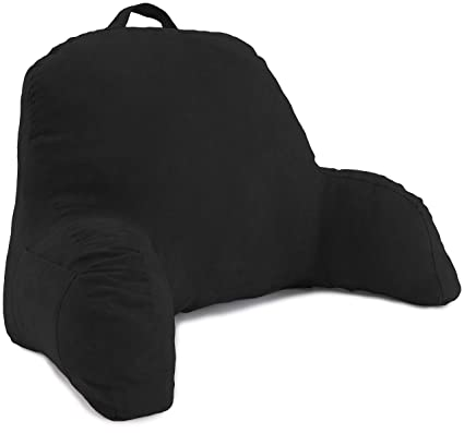 backrest pillow with arms Amazon.com: Deluxe Comfort Microsuede Bed Rest – Reading and  backrest pillow with arms
