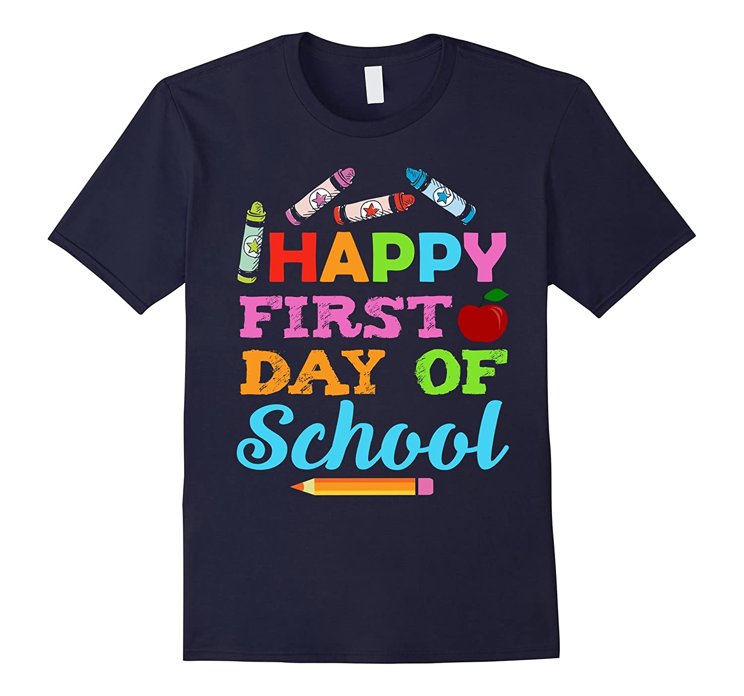 Cool Teacher or Student Happy First Day Of School Tshirt-BN
