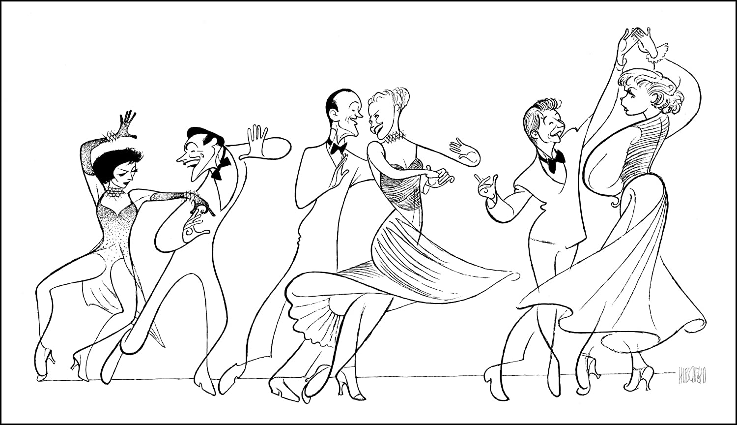 Hand Signed AL HIRSCHFELD, I'LL TAKE ROMANCE, Limited-Edition Lithograph, Depicting: GENE KELLY, CYD CHARISSE, FRED ASTAIRE, GINGER ROGERS, DONALD O'CONNOR, AND DEBBIE REYNOLDS I' LL TAKE ROMANCE DONALD O' CONNOR THE MARGO FEIDEN GALLERIES LTD.